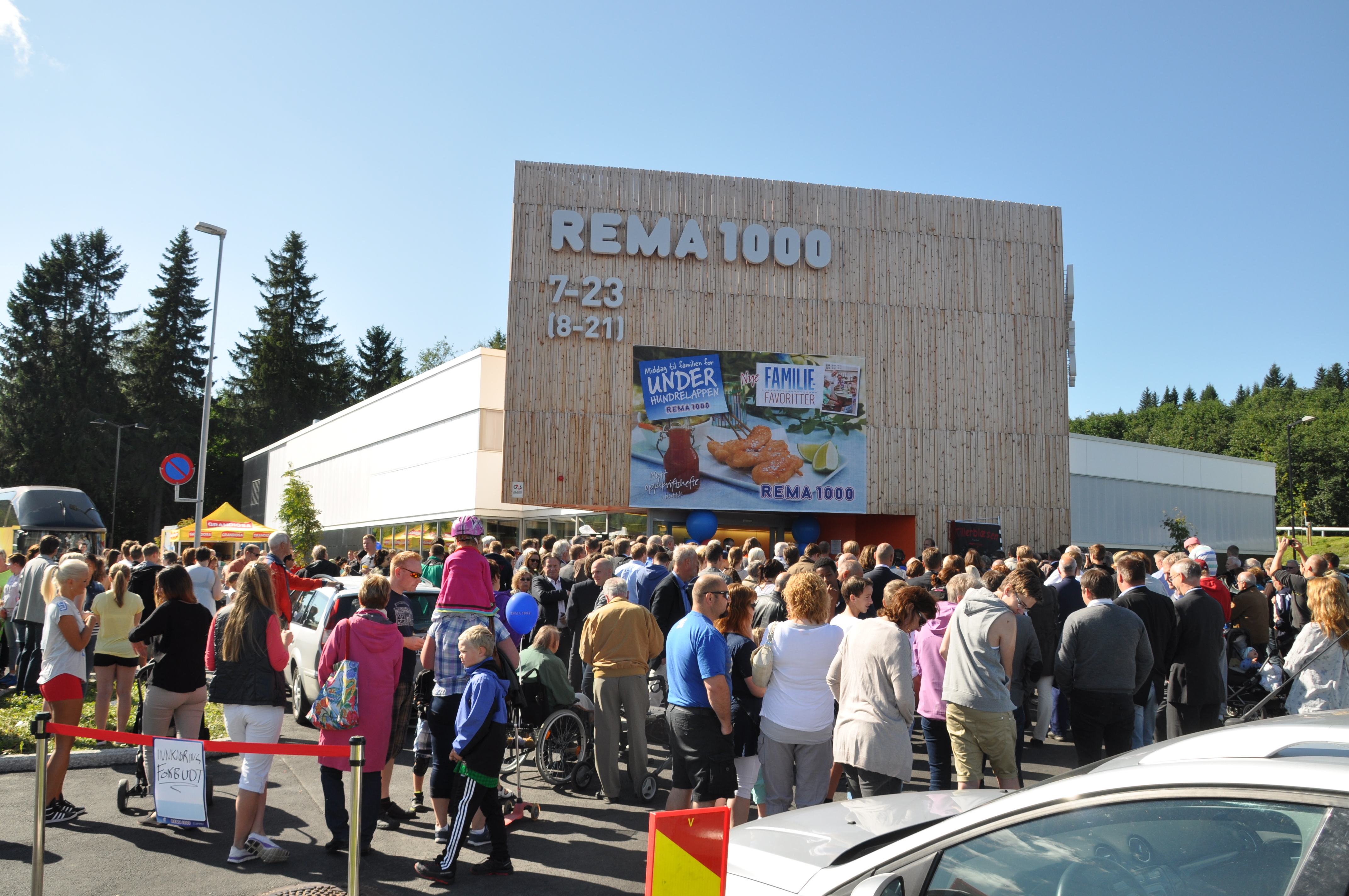 REMA1000 at Kroppanmarka in Trondheim is one of the eco-friendly supermarkets there is