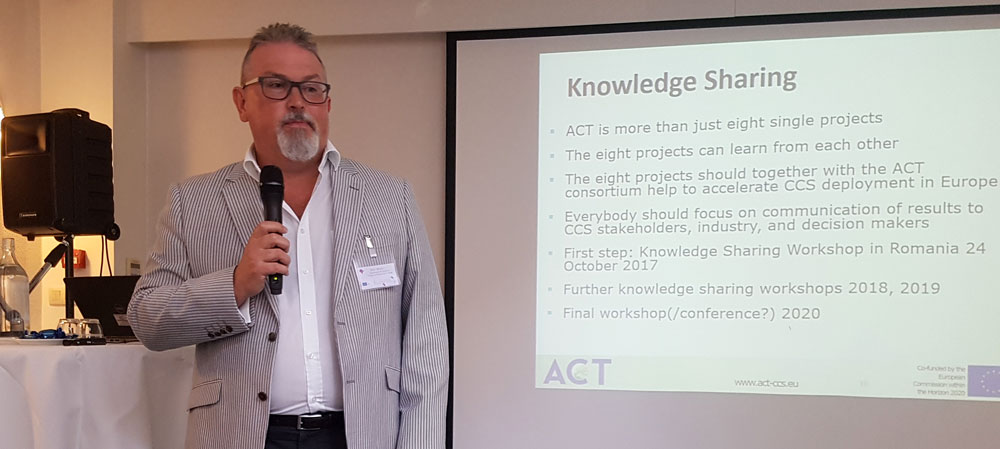 Brian Allison of the UK Department for Business, Energy and Industrial Energy represented the ACT consortium and highlighted knowledge sharing as a key expectation for the new ACT projects.