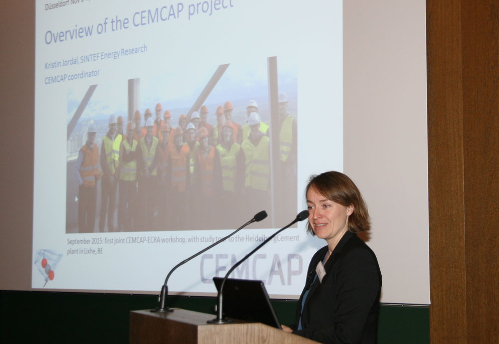 Kristin Jordal gave an introduction to the CEMCAP project