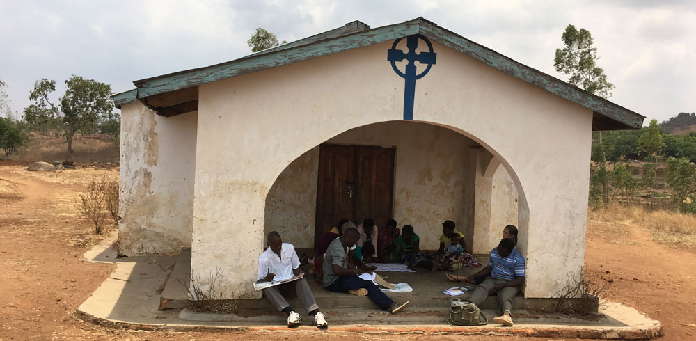 Focus group discussion in rural Malawi.