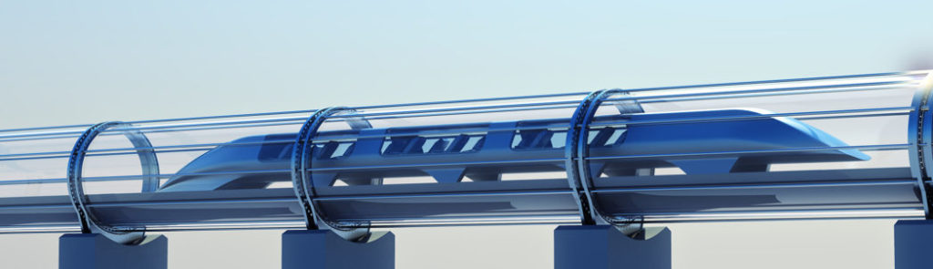 Illustrasjon av hyperloop