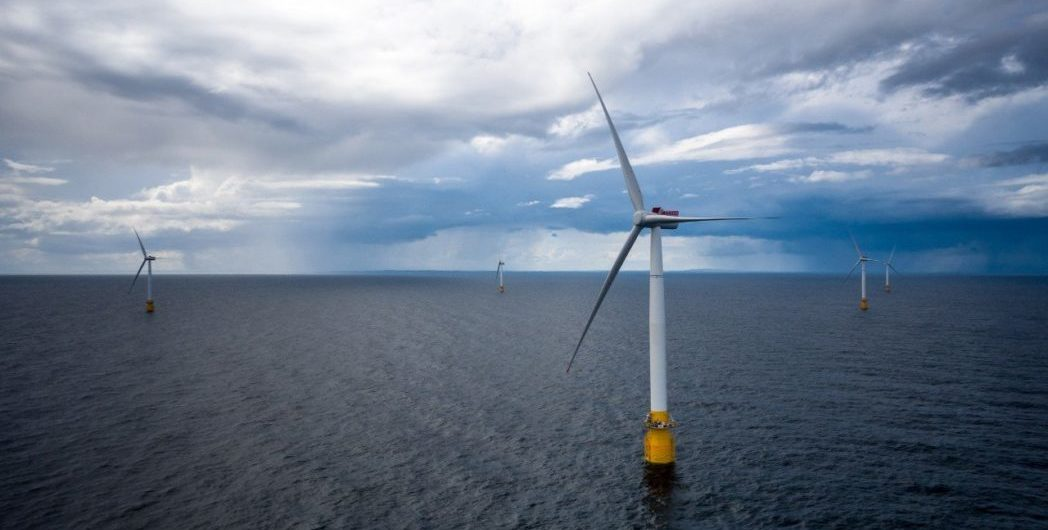 Hywind flytende vindpark Foto: Øyvind Gravås / Woldcam - Statoil ASA