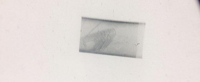 Bildet av en diffraksjonsflekk av en monokrystallinsk prøve.
