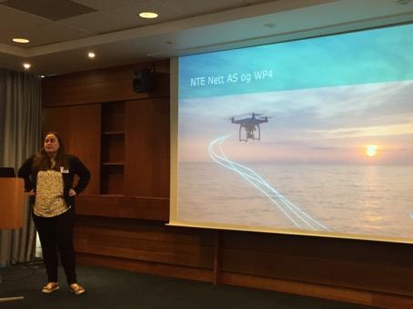 Marianne Blikø presenterer NTE Nett sine tanker om WP4 i CINELDI