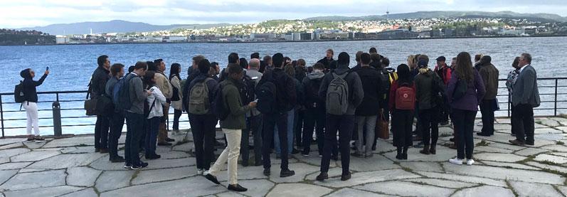 Enjoying the excursion at Munkholmen IEAGHG CCS Summer School