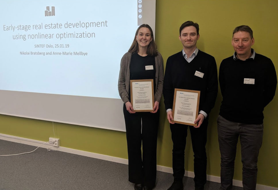 From left: Anne-Marie Mellbye, Nikolai Mathisen Bratsberg, Kjetil Fagerholt (NTNU), Photo: SINTEF