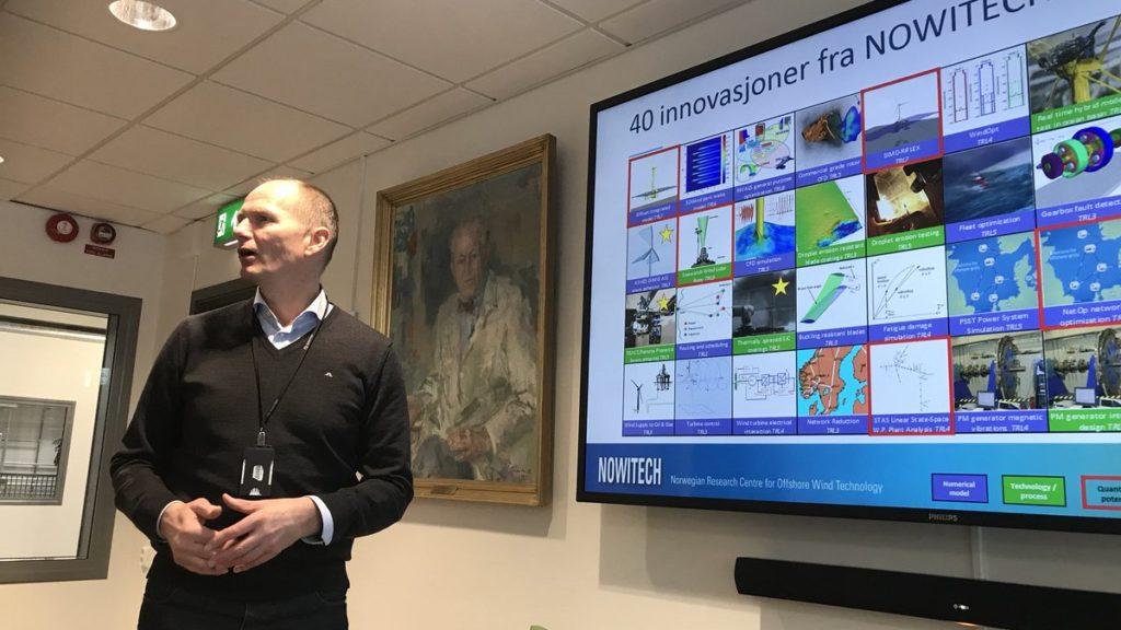 John Olav Tande, SINTEF Energi presenterer innovasjoner fra FME NOWITECH.