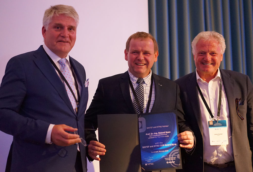 Winner of the SINTEF and NTNU CCS Award Roland Span