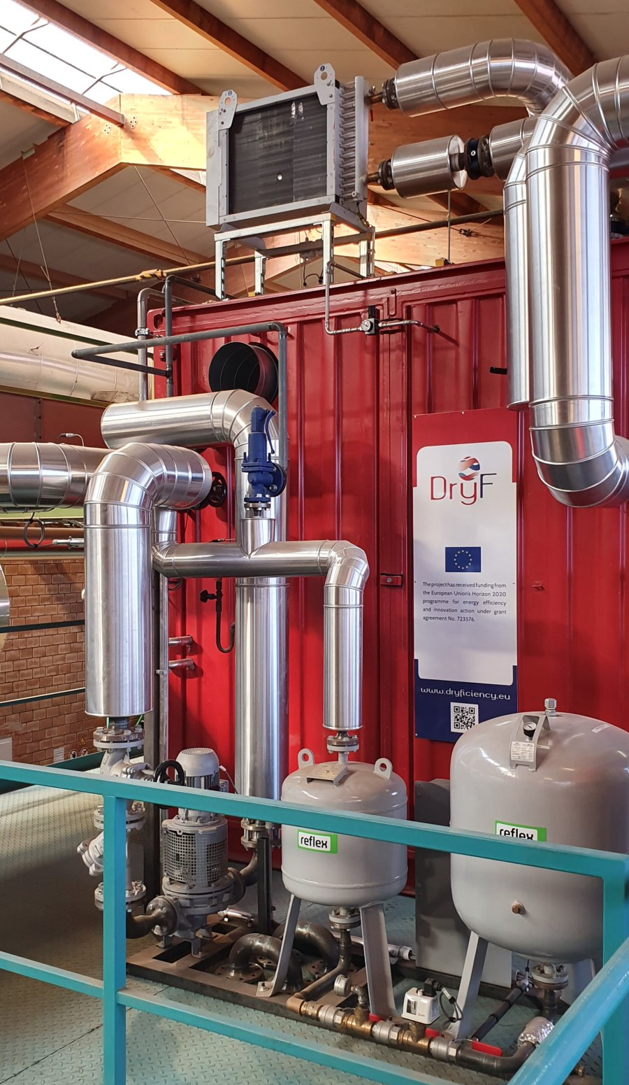 The new industrial heat pump from DryFiciency