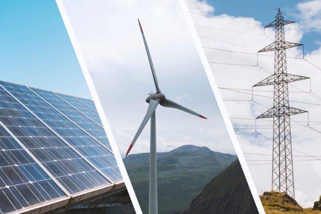 Solar wind power grid