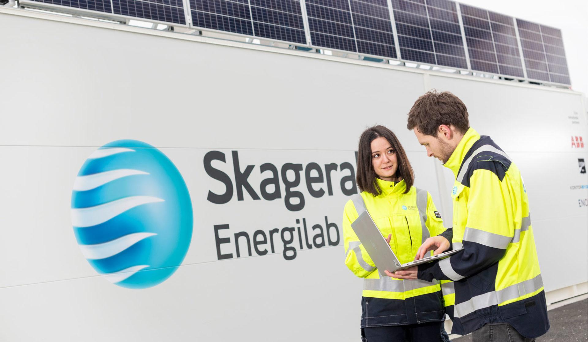 Solsceller og batteri på Skagerak EnergiLab. intergrerer batterisystem