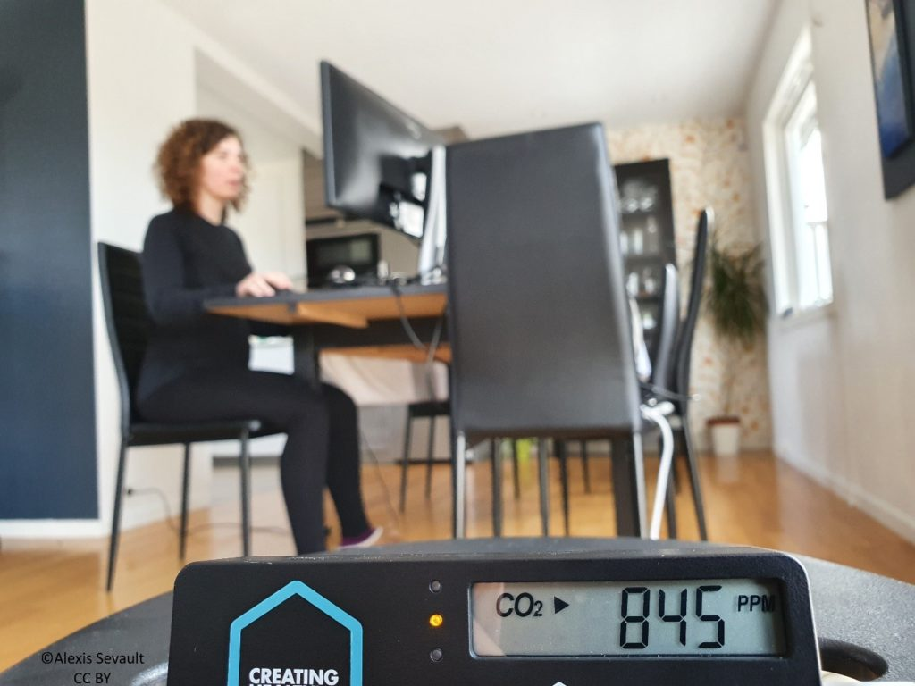 CO2 measurement in a home office