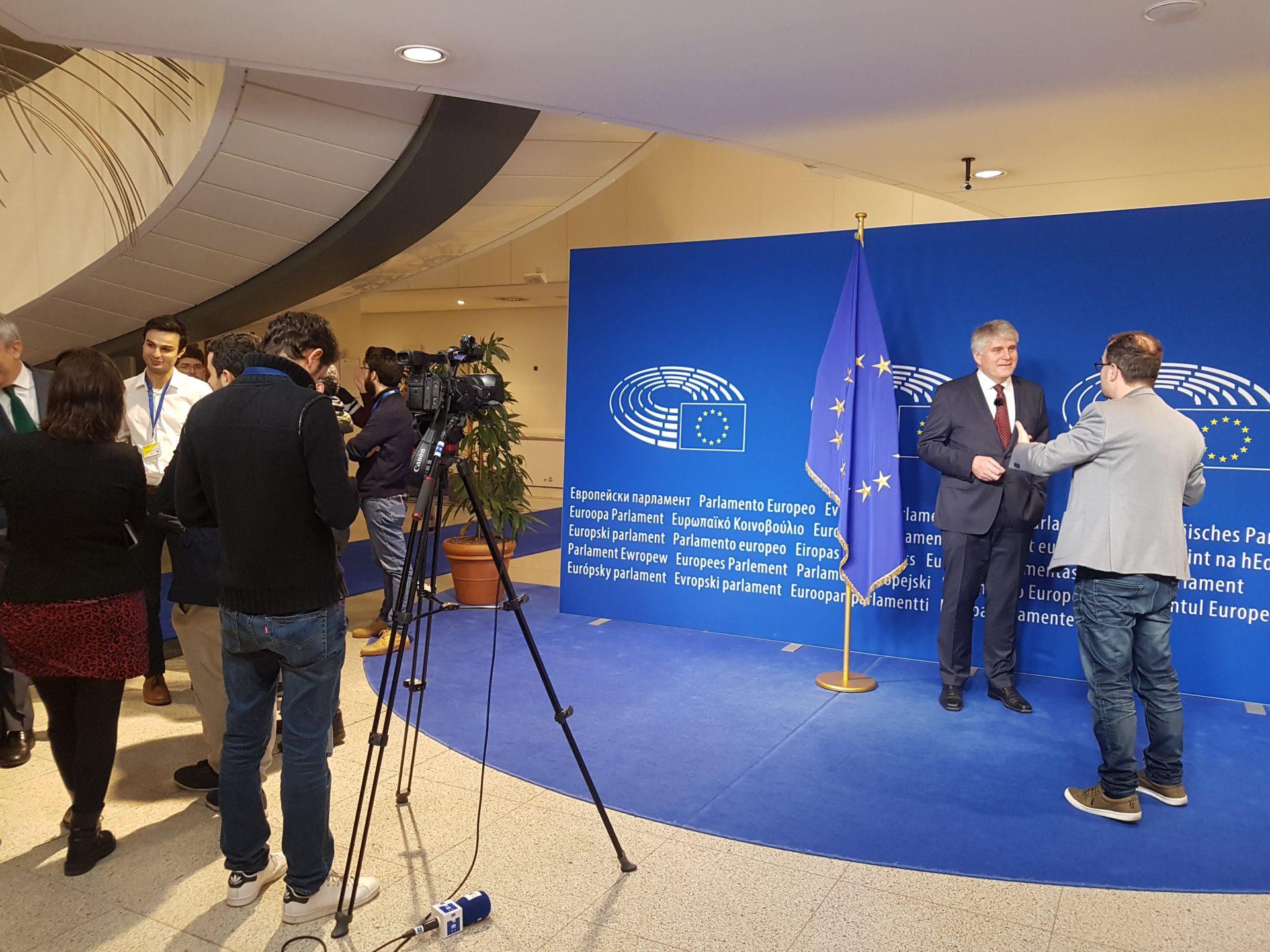 Nils Røkke i EU-parlamentet. Foro: SINTEF Energi/Send Tollak Munkejord