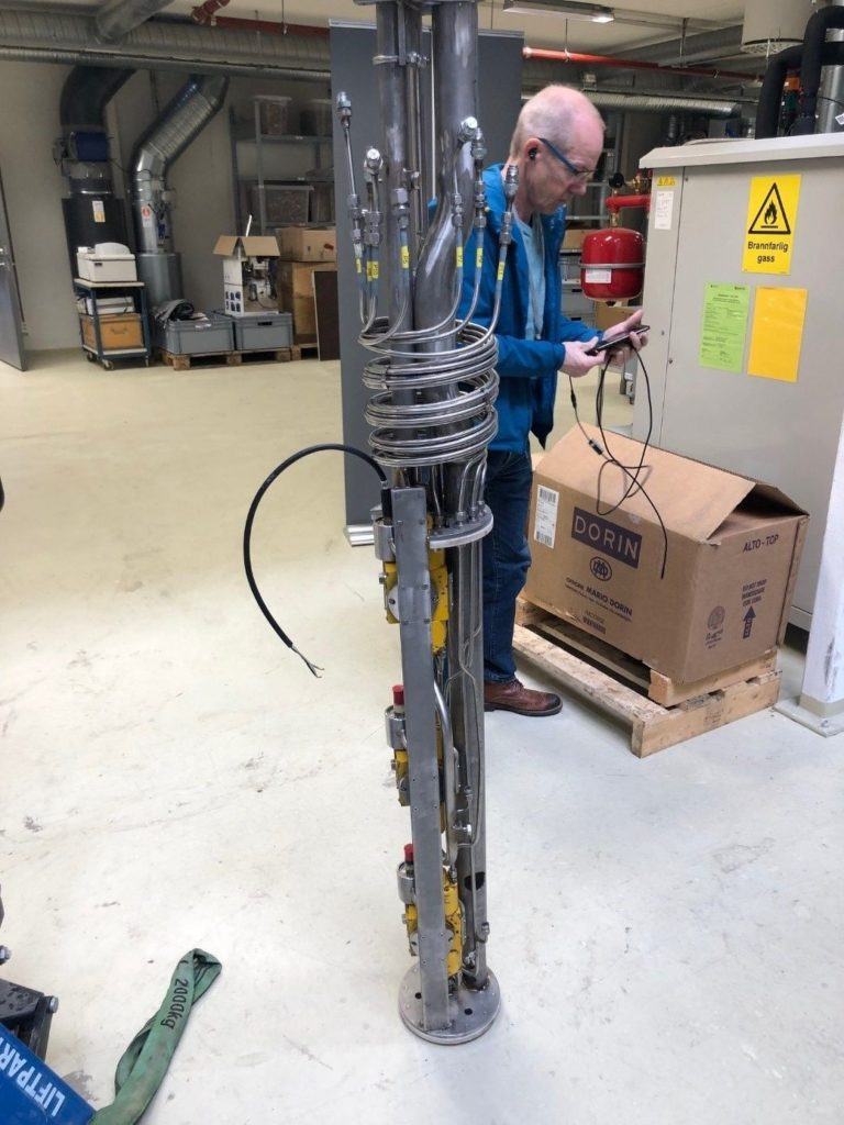 The bottom section of the CCS test rig
