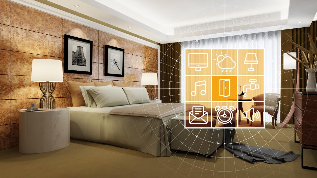 Hotel room energy controls