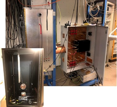 Test cabinet with HV switch