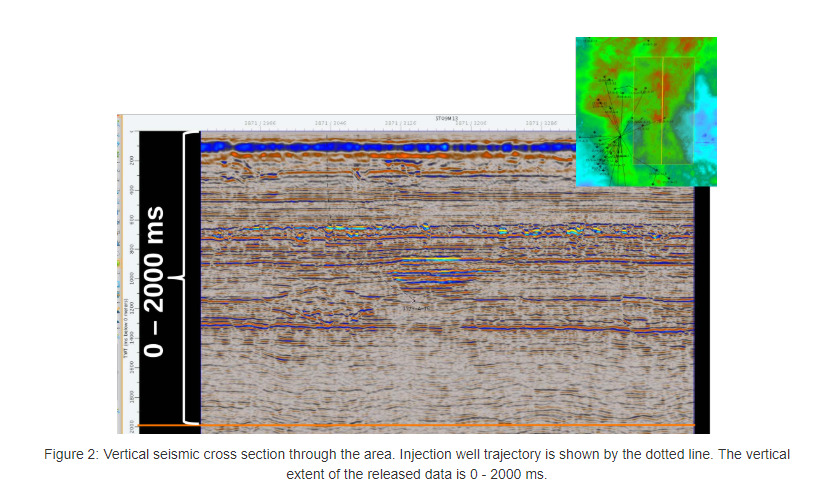 Vertical seismic cross-section in CO2 Datashare