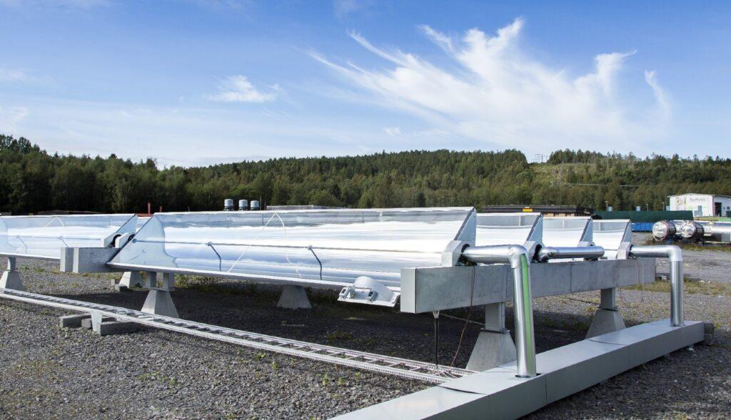 Energy park solar heating