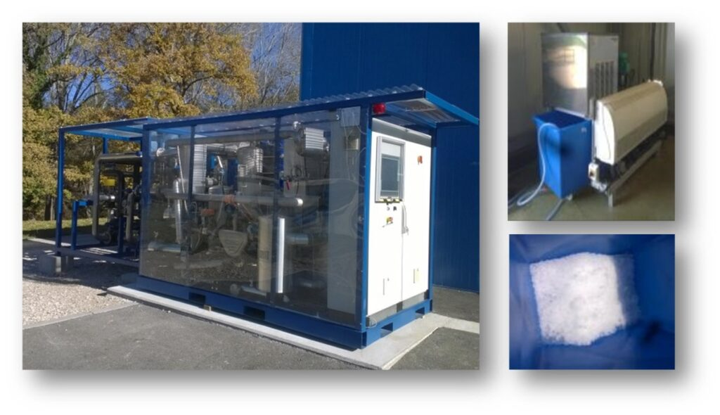 Prototype of absorption chiller developed by CEA for 100 kW cold production