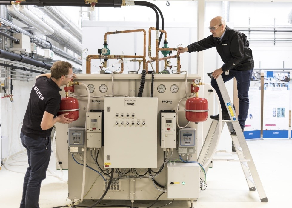 A high temperature heat pump developed by SINTEF in the previous project HeatUP.