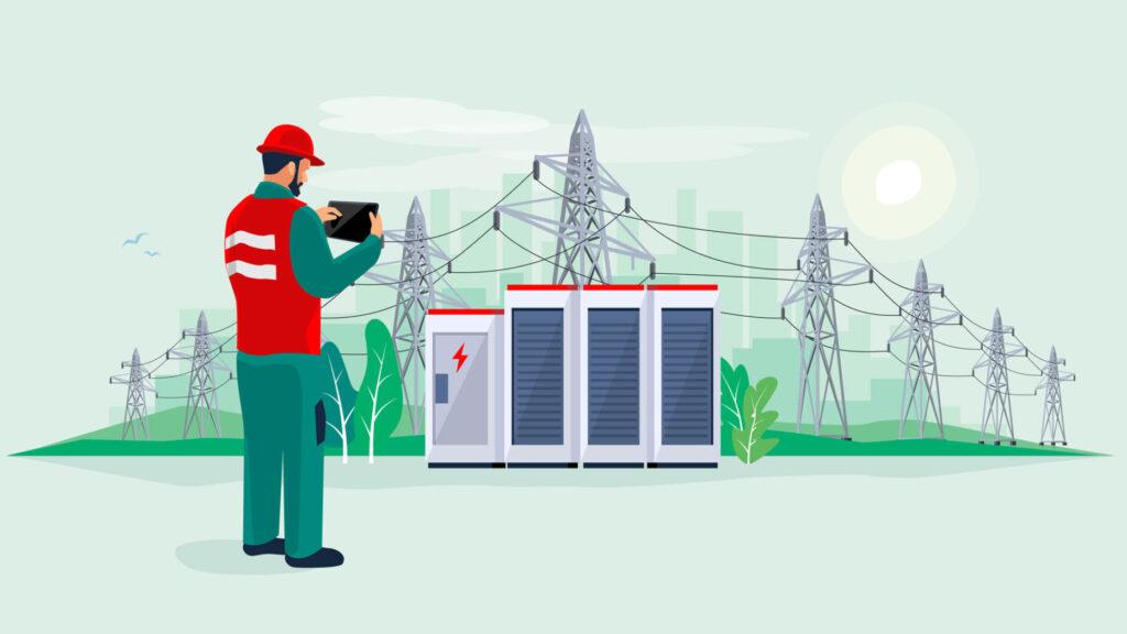 aktive distribusjonsnett med batterier i nettet