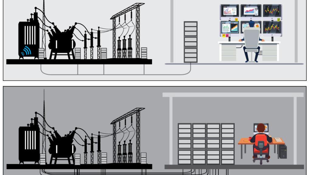 Digitale transformatorstasjoner - Illustrasjon av noen av fordelene ved digital stasjon