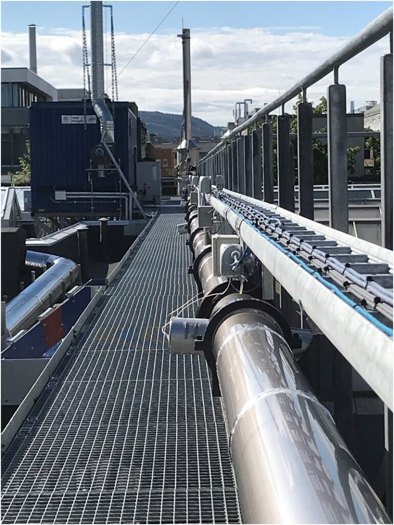 CO2 pipeline for testing in Trondheim, Norway