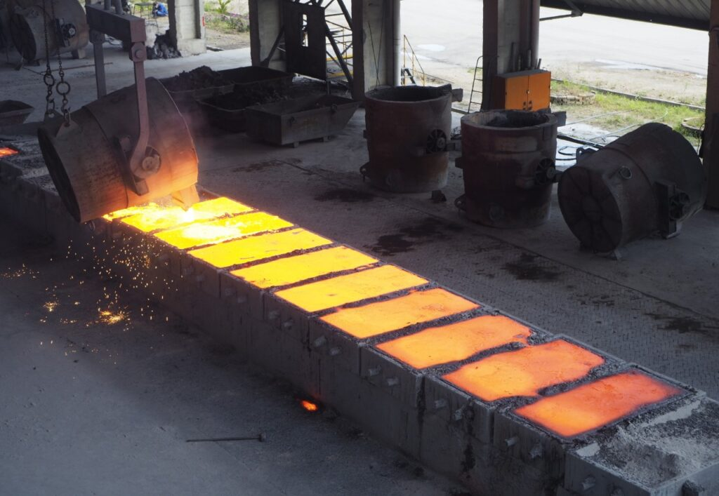 Industrial casting process