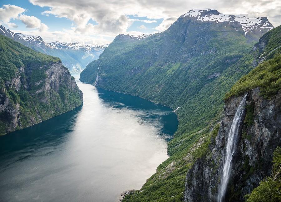 Geirangerfjord in western Norway