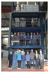 European and Chinese partners in front of the cold mock-up