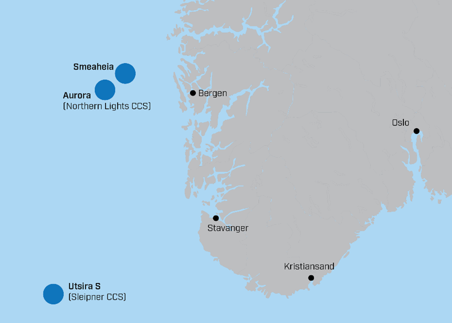 Smeaheia storage site is located in the Norwegian North Sea on the Horda Platform
