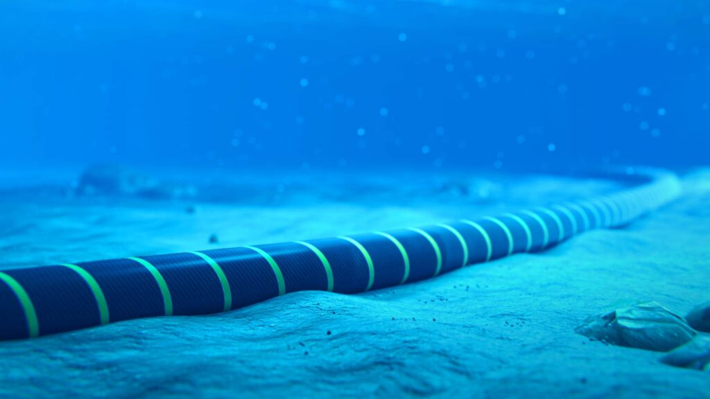 Image of a subsea cable