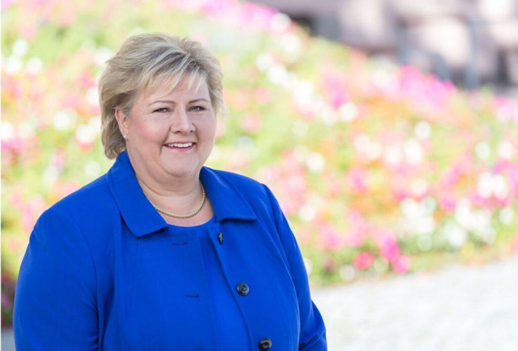 A portrait of Erna Solberg, Norwegian prime minister