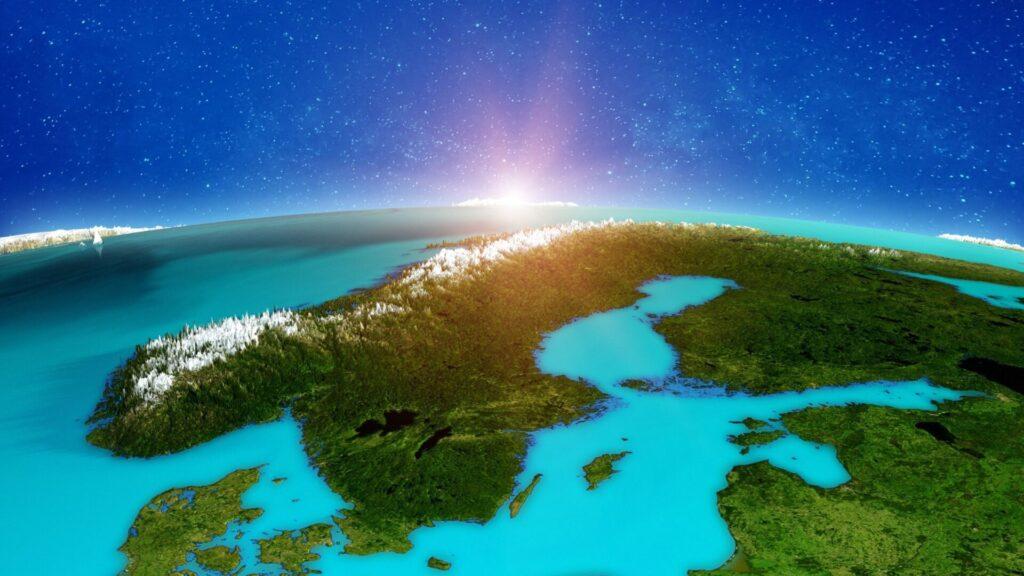 Satellite image of Norway