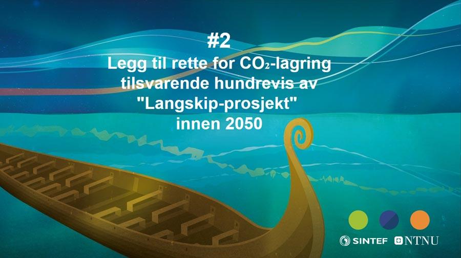 Legg til rette for CO2-lagring tilsværende hundrevis av Langskip-prosjekt innen 2050